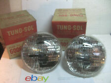 VINTAGE TUNG SOL 6006 6 VOLT HEADLIGHT HEADLAMP BULBS NOS MATCHED PAIR