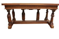 Rare Antique French Gothic Table, Monk Leg Carvings, Religious, Oak, 1920's