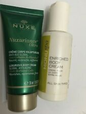 2 x designer items NEW lot MONU SPA ENRICHED BODY CREAM  40ML & nuxe ultra 30ml