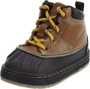 NEW NIKE WOODSIDE (TD) ACG BOOTS TAN BROWN/BLACK TODDLER SIZE 4C (415080 200)
