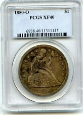 C11815- 1850-O S$1 PCGS SEATED LIBERTY DOLLAR XF40 - 40,000 MINTED