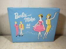 Vintage 1963 Mattel Barbie & Midge Doll Case Blue