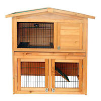 """Cage Rabbit Hutch Chicken Coop Animal Run Hen Pet Poultry Wooden Small House 40"""""""