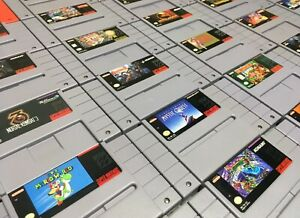 Super Nintendo SNES Original Video Game Cartridges *Authentic/Cleaned/Tested*