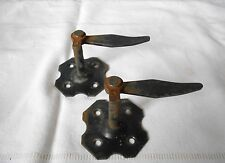 2 Vintage French wrought iron black WINDOW Shutter STOPPERS