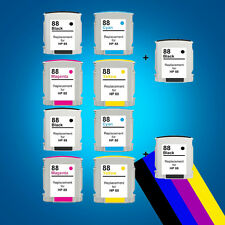 10 Ink Cartridges for HP 88XL Officejet Pro K8600 K8600DN L7400 L7480 L7580
