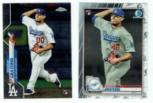 BRUSDAR GRATEROL Dodgers ~ 2020 Topps Chrome & Bowman Chrome Rookies ~ FREE SHIP