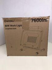 Onforu 80W 7600Lm Led Work Light (800W Equivalent), 2 Brightness Levels, 16.4Ft/