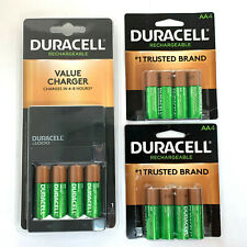 NEW DURACELL BATTERY VALUE CHARGER 12 AA RECHARGEABLE BATTERIES ALSO FOR AAA