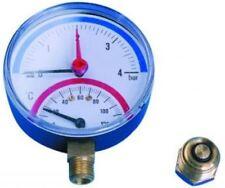 0-6 bar Manometro Temperatura & - connessione inferiore
