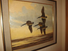 Angus Shortt Sports Afield Artist Original Oil Painting Canada Geese