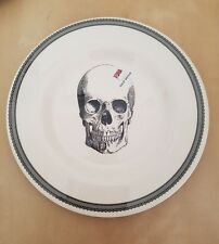 NEW (4) The Victorian English Pottery Halloween Skull Appetizer Salad SidePlates