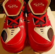 Boombah sports ball metal Cleats Size 5.5 Red/White/Black EUC shoes