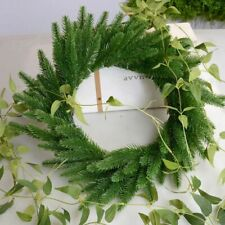 20pcs Artificial Plastic Green Pine Plants Branches DIY Christmas Party