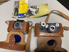Vintage ARGUS 35mm Camera Lot - Argus C-3 Tiffen 3.5 Lens Argus Anastigmat Cases