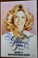 Olivia Newton John JSA Coa Signed Concert Poster Photo Deer Creek Autograph