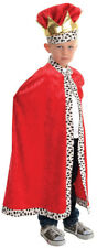 Red Cape King Child Costume Faux Leopard Fur Trim Fancy Dress Up Underwraps