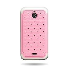 Hybrid Diamond Bling Light Pink White Cover Case for Huawei Ascend Plus H881C