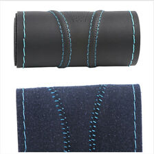 "15"" Black + Blue Beautiful lines (Good Grip) Anti-skid Car Steering Wheel Cover"