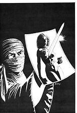 PAUL GULACY- BLACK DIAMOND NO. 4- ORIGINAL COVER ART! AC COMICS - 1983