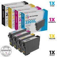 LD 4pk for Epson 220 XL T220XL Ink Cartridges Expression XP-320 XP-420 XP-424