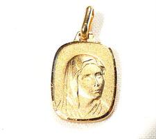 Bijou plaqué or 18 carats pendentif médaille Vierge  No 16 pendant