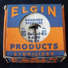 Vintage Elgin Ok'D Products Hammered Furniture Nails/Tacks No. 9s Oxford 50ct.