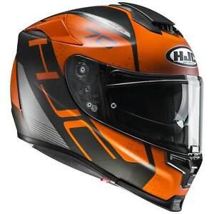 HJC RPHA 70 VIAS Motorrad Integralhelm Sport & Touring - matt grau orange