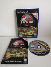 Jurassic Park Operation Genesis Jeu Game Sony PlayStation 2 Ps2 PS 2 Konami
