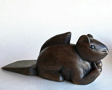 Door Stopper - Wooden Squirrel Door Stop - Squirrel Doorstop