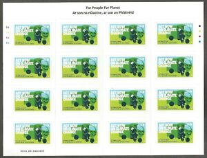 2021 IRELAND NEW ISSUE~FOR PEOPLE FOR PLANET N RATE SELF-ADHESIVE SHEET