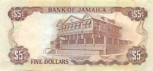 Jamaica  $5  1.9.1992  Series  CT  Circulated Banknote RCV