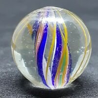 "German Handmade Double Ribbon Core Marble Mint- .80"""