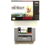 Final Fantasy V for snes game cartridge english translated