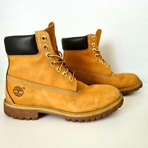 Timberland Mens 6 Inch Premium Buck Wheat Boots 10061