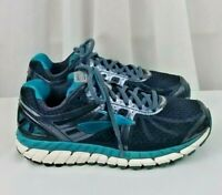 Brooks Ariel 16 running athletic blue grey black womens shoes SZ 7 extra wide 2E