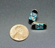 Silver Turquoise Earrings Zuni Clifton Cheama Sterling