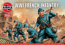 AIRFIX 728V 1/76 WWI French Infantry 48 Plastic Toy Soldiers NEW MIB FREE SHIP