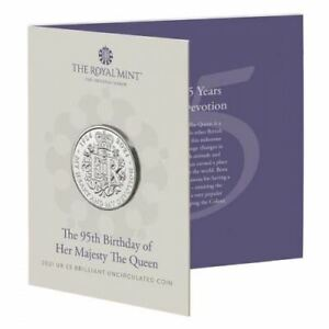 the 95th Birthday of Her Majesty the Queen 2021 Brilliant Uncirculated Coin