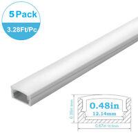5Pack 3.3ft/1m U-shape LED Aluminum Channel Profile For <12mm LED light strip