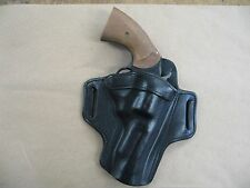 "EAA Windicator 4"" Revolver Leather 2 Slot Pancake Belt Holster BLACK RH"