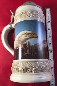 GERZ German Eagle Lidded Beer Stein Tankard