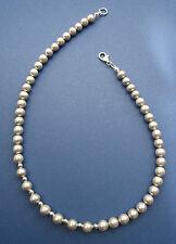 SWZ Perlenkette silberfarben 43 cm - Designelemente und Verschluss 925er Silber