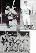 Signed 3.5 x 5 BOBBY DOERR Boston Red Sox Autographed  photos - Personal COA