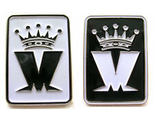 MADNESS - SET OF 2x OFFICIAL BLACK/WHITE M LOGO ENAMEL BADGES - SUGGS TWO TONE