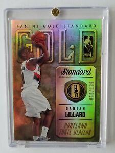 2012-13 PANINI GOLD STANDARD GOLD DAMIAN LILLARD ROOKIE CARD #16  /199