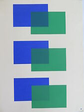 Josef Albers Original Silkscreen Folder XI-2/Right Interaction of Color 1963