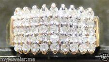 14K YELLOW & WHITE GOLD 1/2 CARAT DIAMOND BAND, SIZE 5.3/4