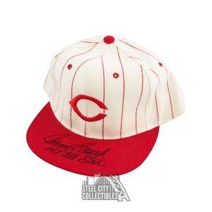 Johnny Bench 14x All Star Autographed Cincinnati Reds Baseball Cap Hat - BAS COA
