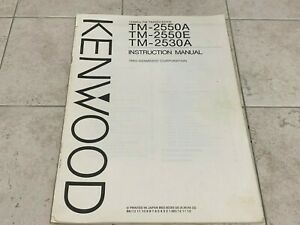 Kenwood TM-2530A TM-2550A Owner's Operating Manual